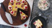 Creamy Rasberry and Oat Cake