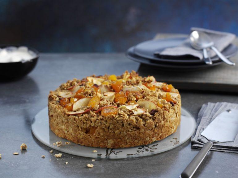 Apricot and Granola Layer Cake